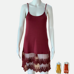 Load image into Gallery viewer, Crimson Trip Slip Dress (Main)