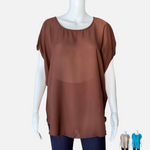 Load image into Gallery viewer, Cross Back Cutout Tunic (Main)