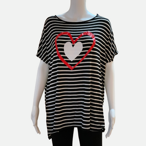 Double Heart Striped Top (Main)