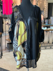 F3 3-4 Mesh Versace Blouse (Front)