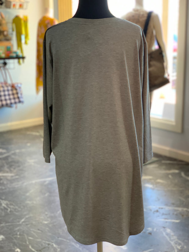 F3 3-4 Suede Yoke Top (Back)