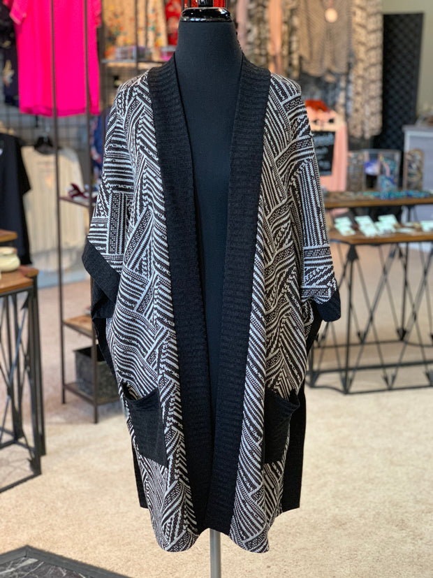 Tribal Pocket Poncho (Front)