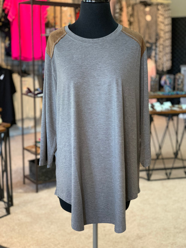 Suede Yoke Top (Front)