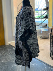 Tribal Pocket Poncho (Side)