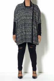 Aztec Pattern Cape (Model)