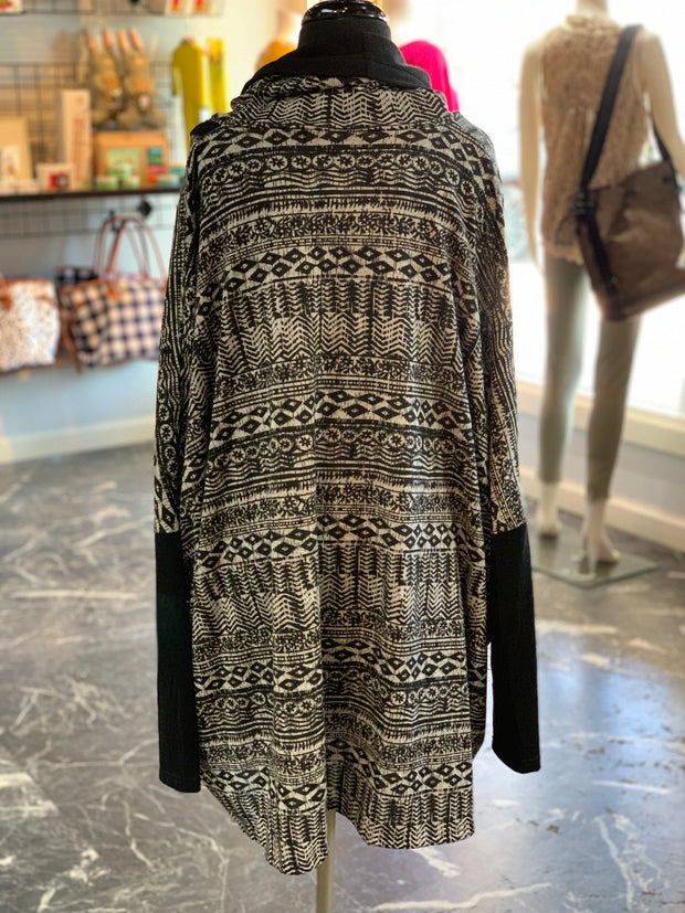 Aztec Pattern Cape (Back)