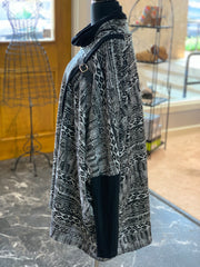Aztec Pattern Cape (Side)