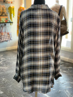 Load image into Gallery viewer, Netural Plaid Buttondown Shirt (Back)