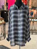 Load image into Gallery viewer, Neutral Plaid Buttondown Shirt (Front)
