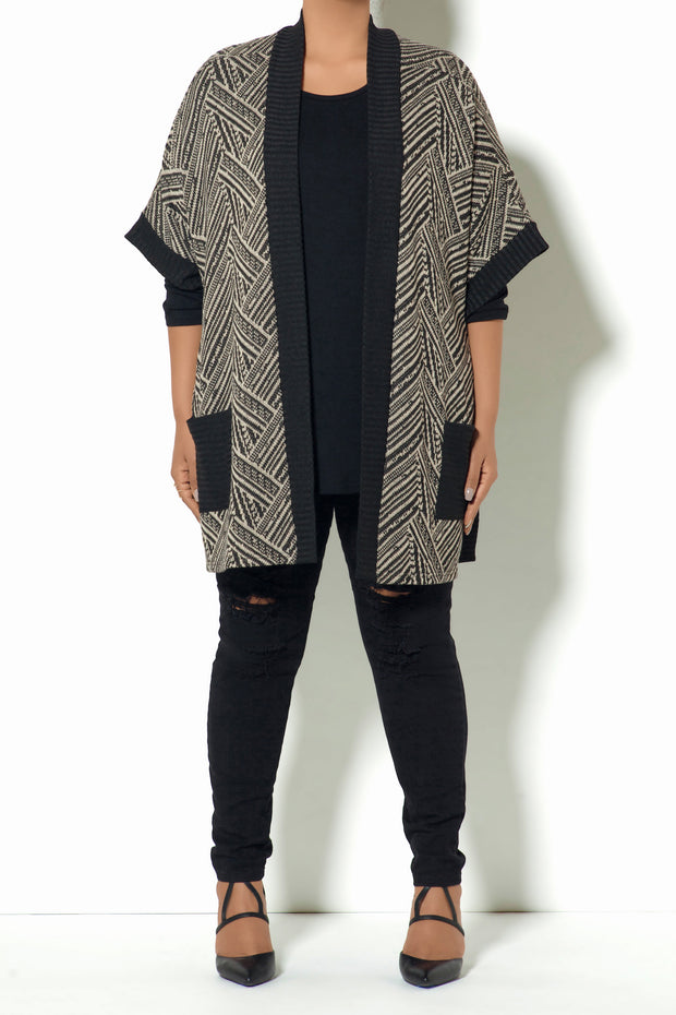 Tribal Pocket Poncho (Model)