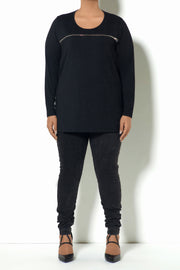 F3 LS Zipper Basic Top (Model - Front)