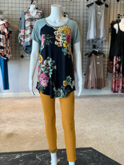 FG SS Raglan Floral Top (Outfit)