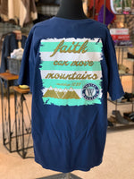 Load image into Gallery viewer, Faith Mountains Graphic Tee (Back)