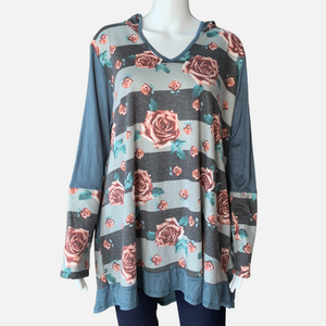 Floral Hoodie Body Tunic (Main)
