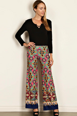 Load image into Gallery viewer, Geo Print Palazzo Pants (Front)