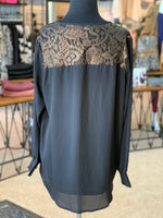 Load image into Gallery viewer, Gold Lace Tunic (Back)