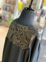 Load image into Gallery viewer, Gold Lace Tunic (Closeup Back)