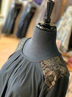 Load image into Gallery viewer, Gold Lace Tunic (Closeup Front)