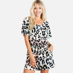 Load image into Gallery viewer, Graduation Leopard Romper (Main)