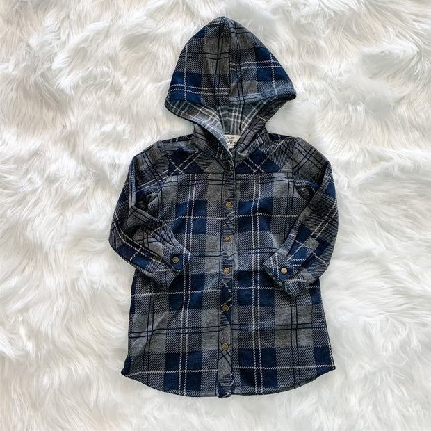 Bonfire Plaid Jacket (Children) - Navy