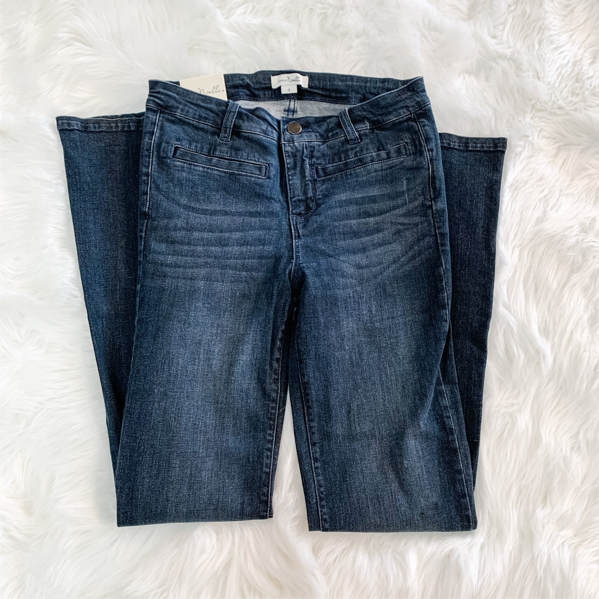 Boot Cut Jeans (Dark Wash Denim)