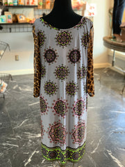 JB Aboriginal Leopard Mesh Dress (Back)