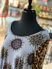 JB Aboriginal Leopard Mesh Dress (Closeup)