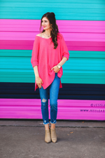 Load image into Gallery viewer, Jenna Hi Lo Tunic - Hot Pink (Full)