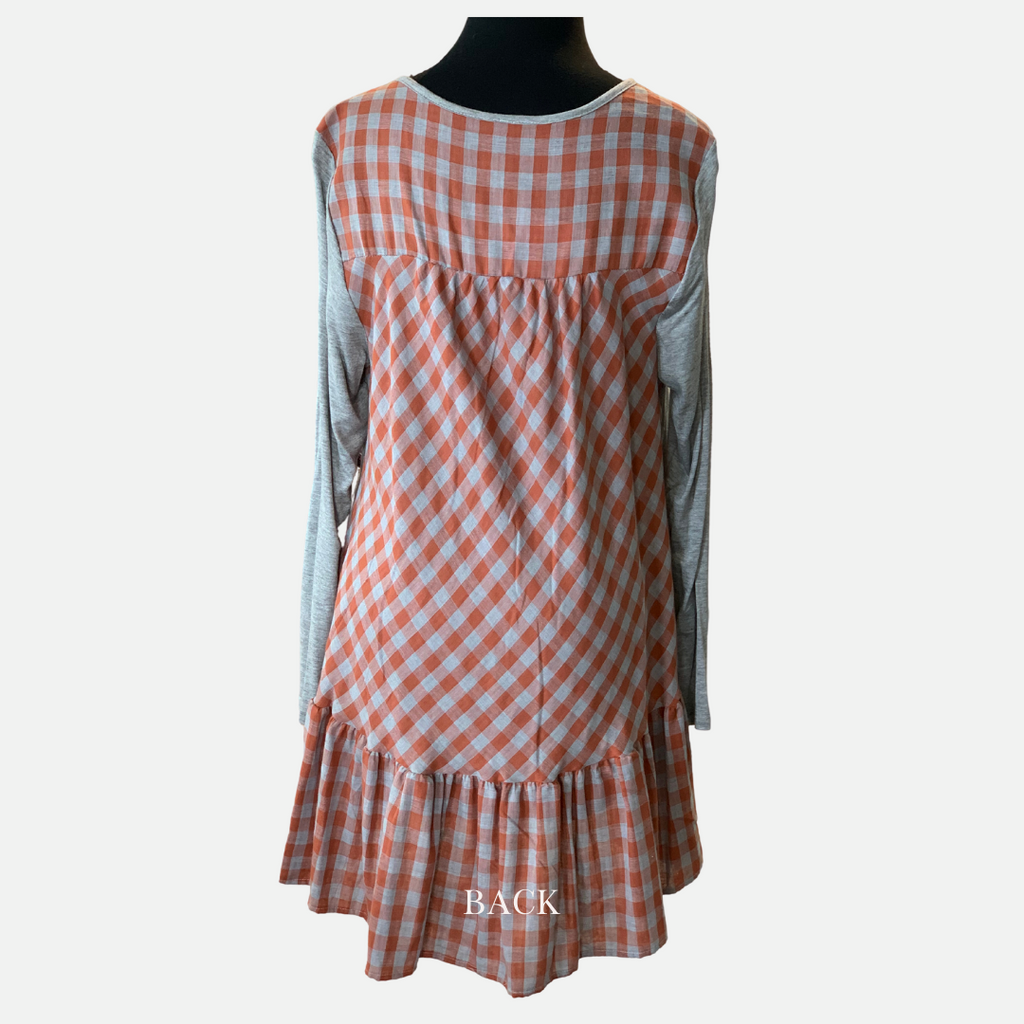 Jersey Ruffle Plaid Tunic (Main)