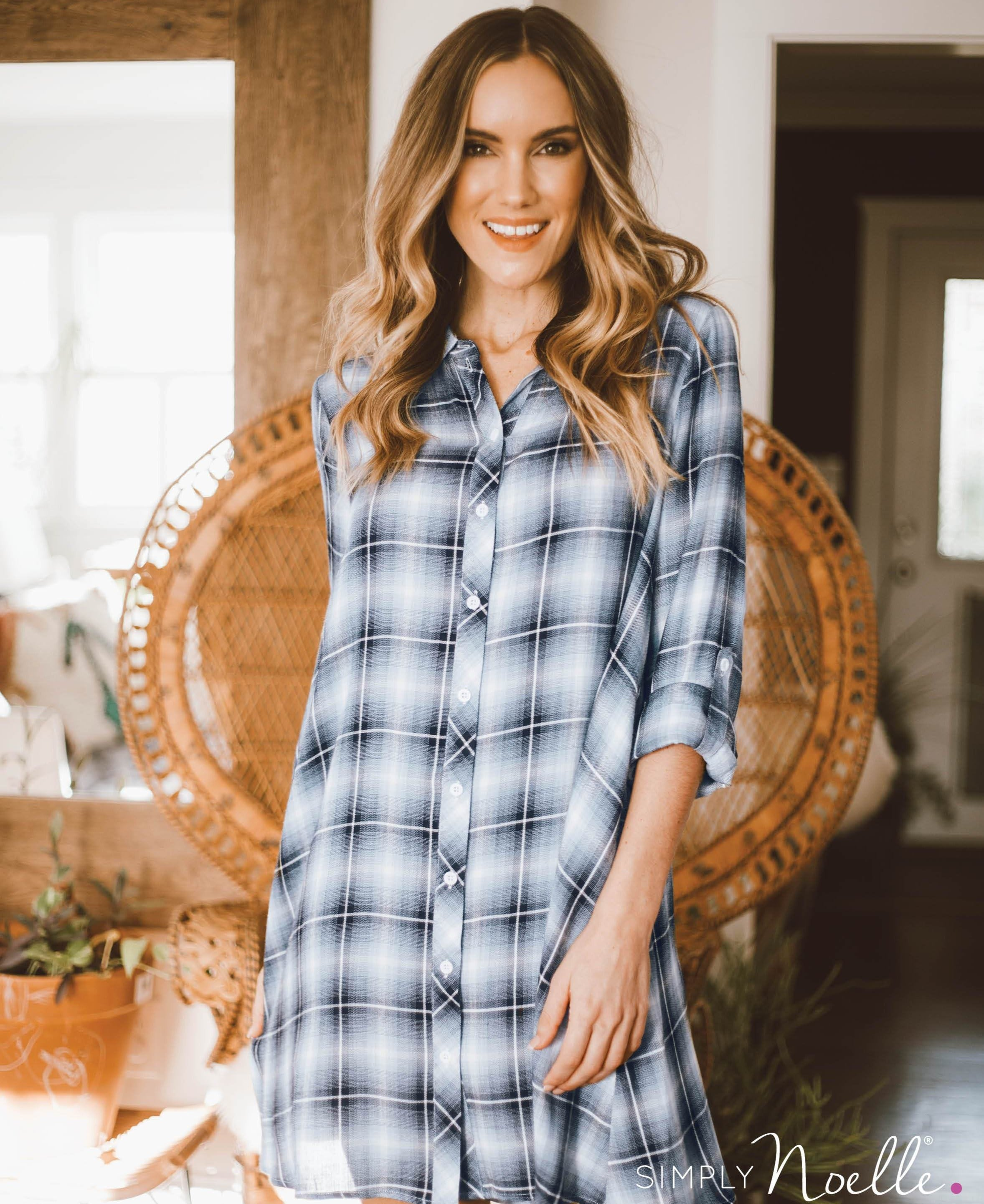PL Plaid Trapeze Dress (Lifestyle)