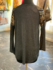 LS Sequin Shoulder Top (Back)