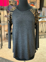 LS Sequin Shoulder Top (Front)