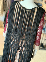 Load image into Gallery viewer, Long Macramé Vest (Closeup)
