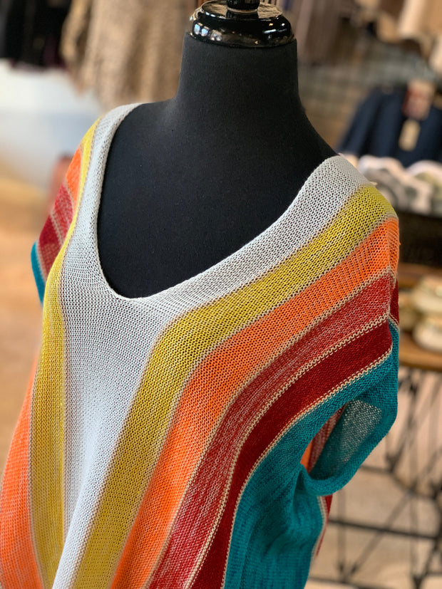 L&B SL HL MVS Serape Sweater (Closeup)