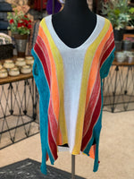 Load image into Gallery viewer, Multi Stripe Serape Sweater (Front)