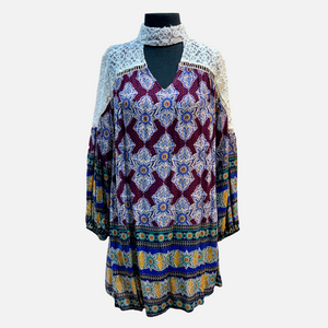 Lace Boho Print Dress (Main)