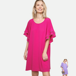 Load image into Gallery viewer, Layered Ruffle Crepe Dress (Main)