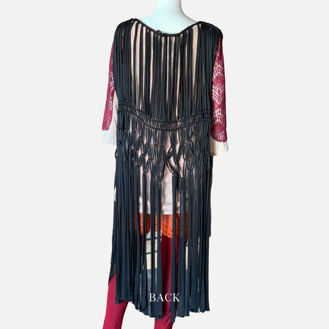 Long Macramé Vest (Main)