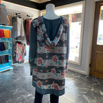 Load image into Gallery viewer, Floral Hoodie Body Tunic (Back)