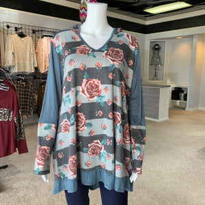 Floral Hoodie Body Tunic (Front)