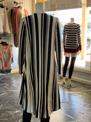 MA LS Striped Cardigan (Back)
