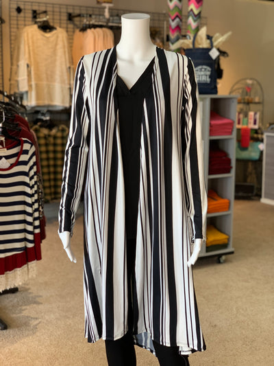 MA LS Striped Cardigan (Front)