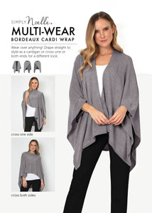 Bordeaux Cardi Wrap - Ways to Wear
