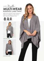 Load image into Gallery viewer, OP Bordeaux Cardi Wrap - Ways to Wear