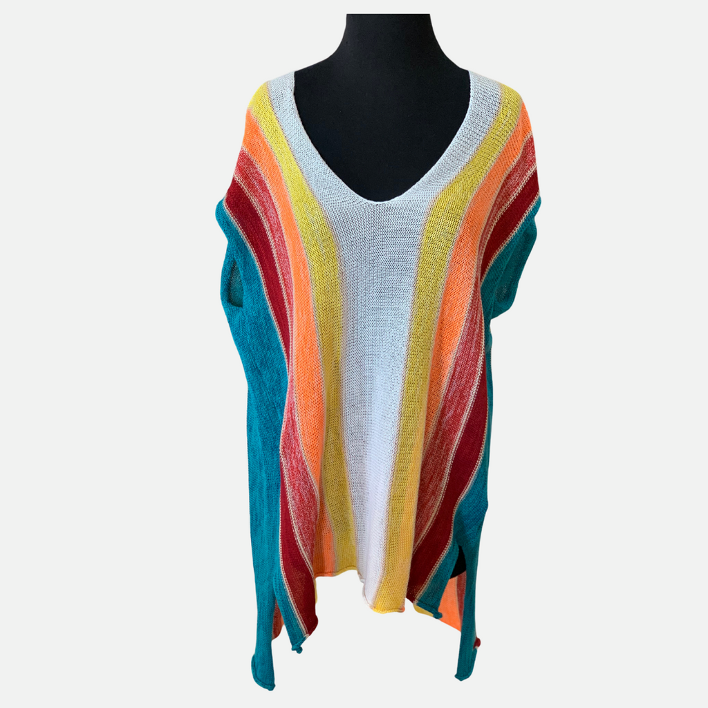 Multi Stripe Serape Sweater (Main)
