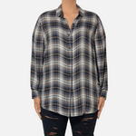 Load image into Gallery viewer, Neutral Plaid Buttondown Shirt (Main)