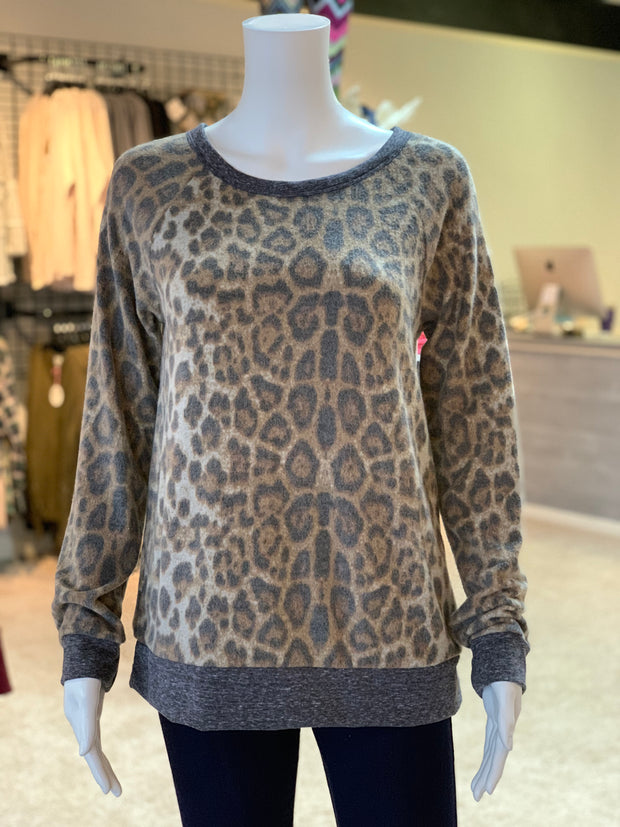 OD Animal Brushed Hacci Knit Sweater (Front)
