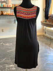 PSK SL Aztec Print Contrast Dress (Back)