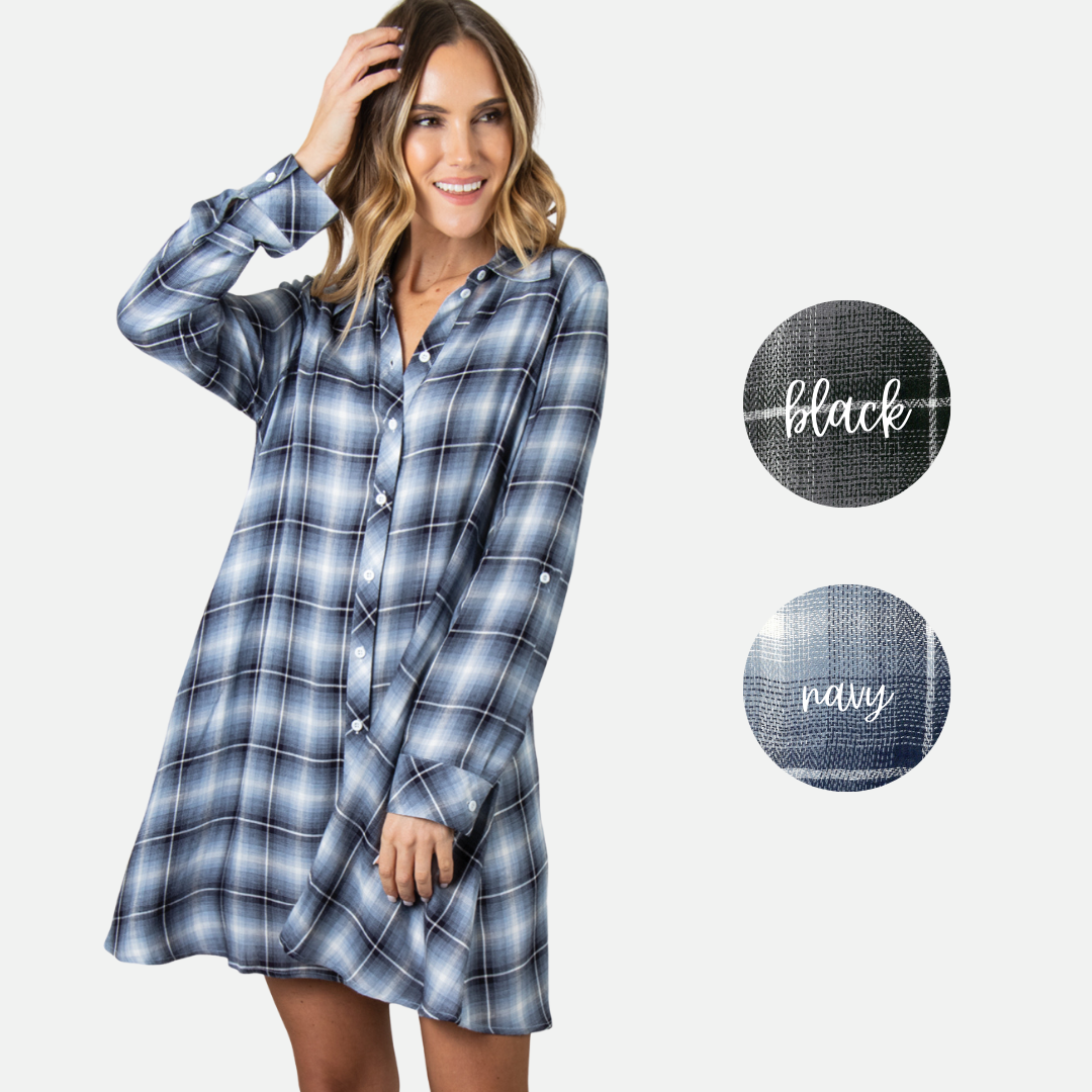 PL Plaid Trapeze Dress (Main)