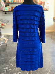 RA LS Ruffle Dress - Royal (Back)